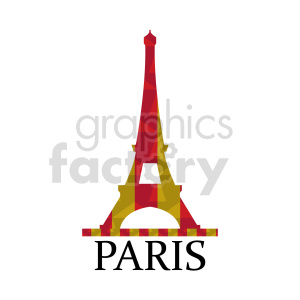 clipart - Eiffel Tower Paris France vector.