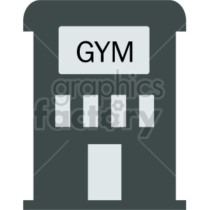 gym building icon clipart. Commercial use image # 415712