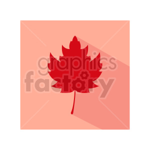 red maple leaf design clipart. Commercial use image # 415767