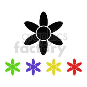 flower set vector design 4 clipart. Commercial use image # 415821