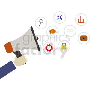 digital marketing vector illustration clipart. Commercial use image # 415886
