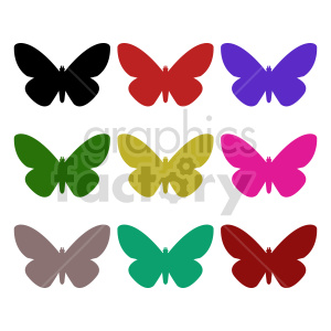 butterfly silhouette vector clipart 01_1 clipart. Commercial use image # 415926
