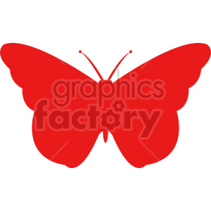 clipart - butterfly silhouette vector clipart 06.