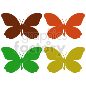 clipart - butterfly silhouette vector clipart 08.
