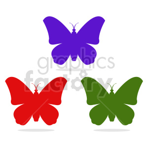 butterfly silhouette vector clipart 013 clipart. Commercial use image # 415940