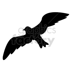 bird silhouette vector outline clipart. Commercial use image # 415959