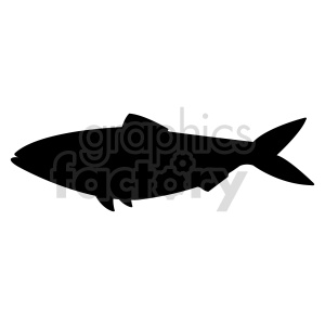 fish silhouette vector clipart. Commercial use image # 415967