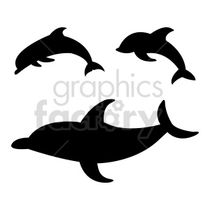 dolphin vector shapes clipart. Commercial use image # 415969