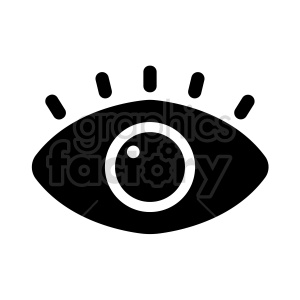 vector eye symbol clipart. Commercial use image # 415988