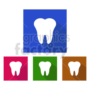 dental icon vector set clipart. Commercial use image # 416003