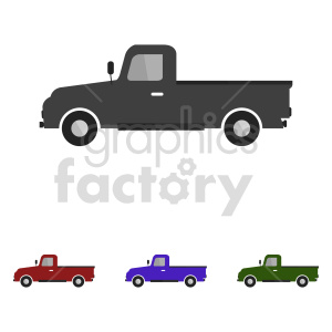 clipart - old pickup truck vector clipart.