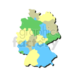 clipart - germany colorful vector clipart.