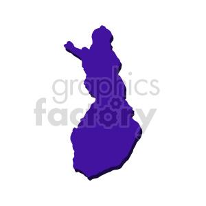 clipart - finland purple vector clipart.