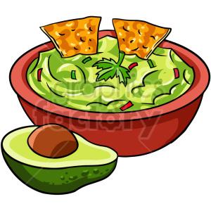clipart - guacamole bowl vector clipart.