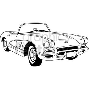 car corvette black+white
