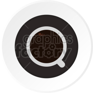 coffee cup on saucer vector clipart clipart. Commercial use image # 416204
