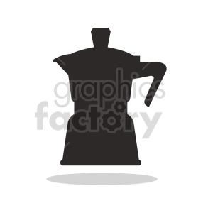 coffee pot shape vector clipart clipart. Commercial use image # 416292
