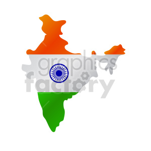 indian flag design clipart. Commercial use image # 416302