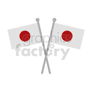 crossed japan flags graphic clipart. Commercial use image # 416308