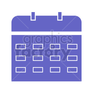 clipart - purple calendar vector icon.