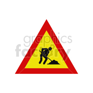 working street sign vector icon clipart. Commercial use image # 416398