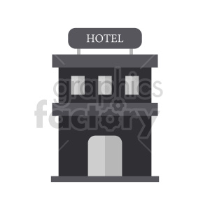 hotel vector icon clipart. Commercial use image # 416513