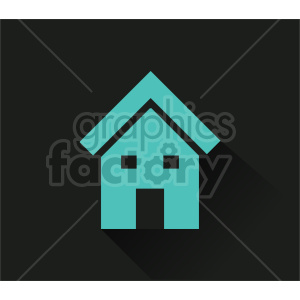 house on dark vector icon clipart. Commercial use image # 416517