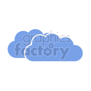 clipart - cloud vector clipart icon.