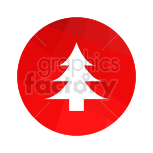christmas tree vector icon clipart. Commercial use image # 416552