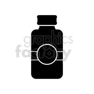 clipart - medicine jar vector clipart.