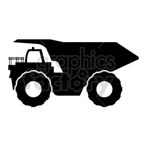 clipart - huge dump truck vector clipart.