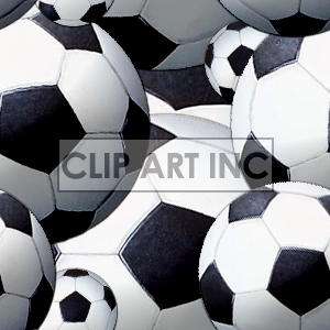 Soccer ball tiled background clipart. Commercial use image # 128150