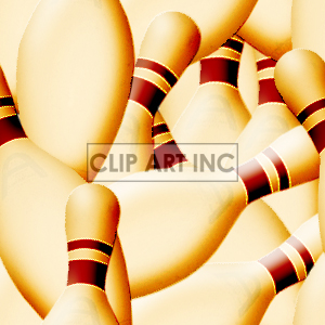 tiled bowling pins background clipart. Royalty-free image # 128160