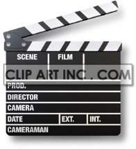 clapper chalkboard director entertainment film movie production sign signal   2H6015lowres Photos Objects