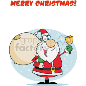 Merry Christmas Santa clipart. Commercial use image # 377770