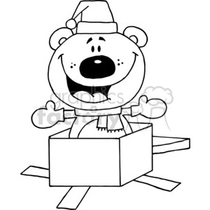 A teddy Bear Jack in the box clipart. Commercial use image # 377794