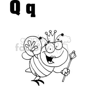 Q as in Queen clipart. Commercial use image # 377981