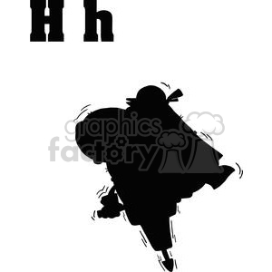 H is for Hippo  A silhouette of a hippo clipart. Royalty-free image # 377996