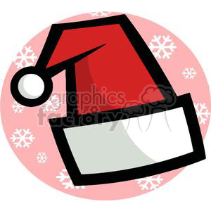 Santa Hat with Snow Flake Background clipart. Royalty-free image # 378046