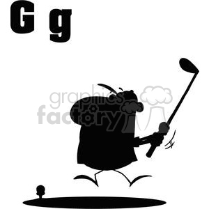 G is for Golfer  clipart. Commercial use image # 378066