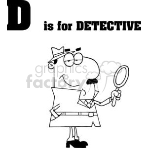 D is for Detective clipart. Royalty-free image # 378091