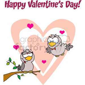 two love birds clipart. Royalty-free image # 378151