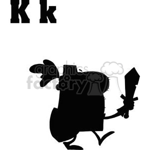 K is for Knight silhouette