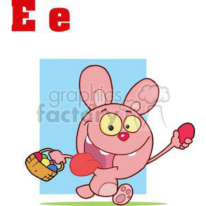 Alphabet Letter E as in Easter