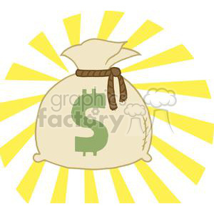 Money Bag clipart. Royalty-free image # 378231