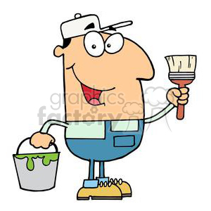Pete The Painter clipart. Royalty-free image # 378236