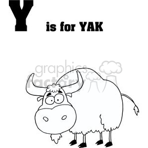 Alphabet Letter Y as in Yak clipart. Royalty-free image # 378241