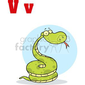 Alphabet Letter V as in Viper clipart. Royalty-free image # 378246