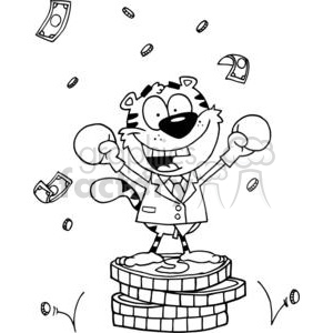 Happy Tiger Victorious clipart. Royalty-free image # 378256