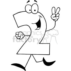 Happy Number 2 clipart. Royalty-free image # 378271